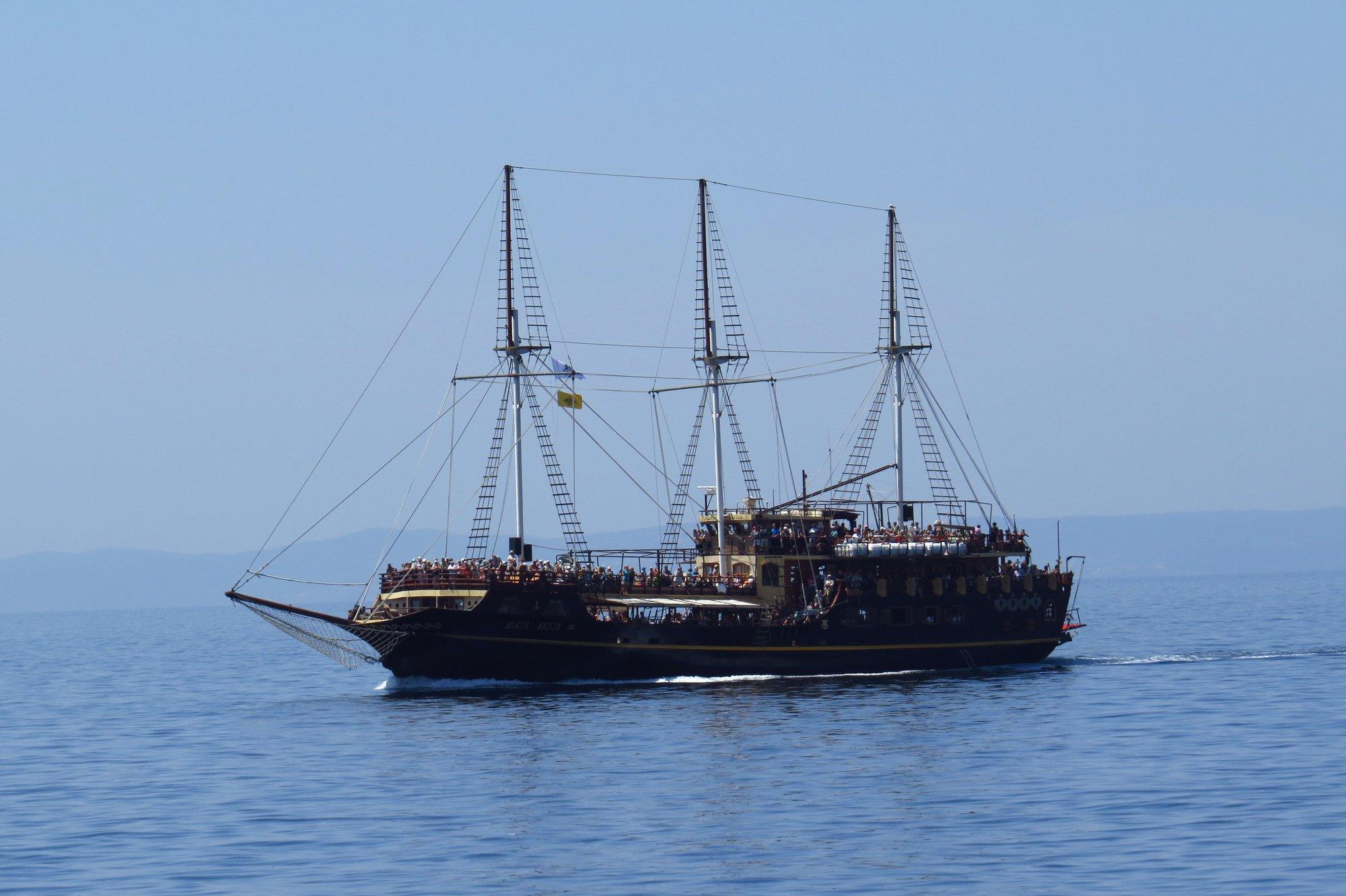 пиратски кораб на Ситония