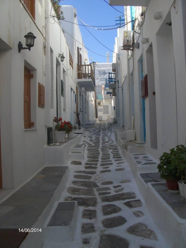 уличка на остров Миконос