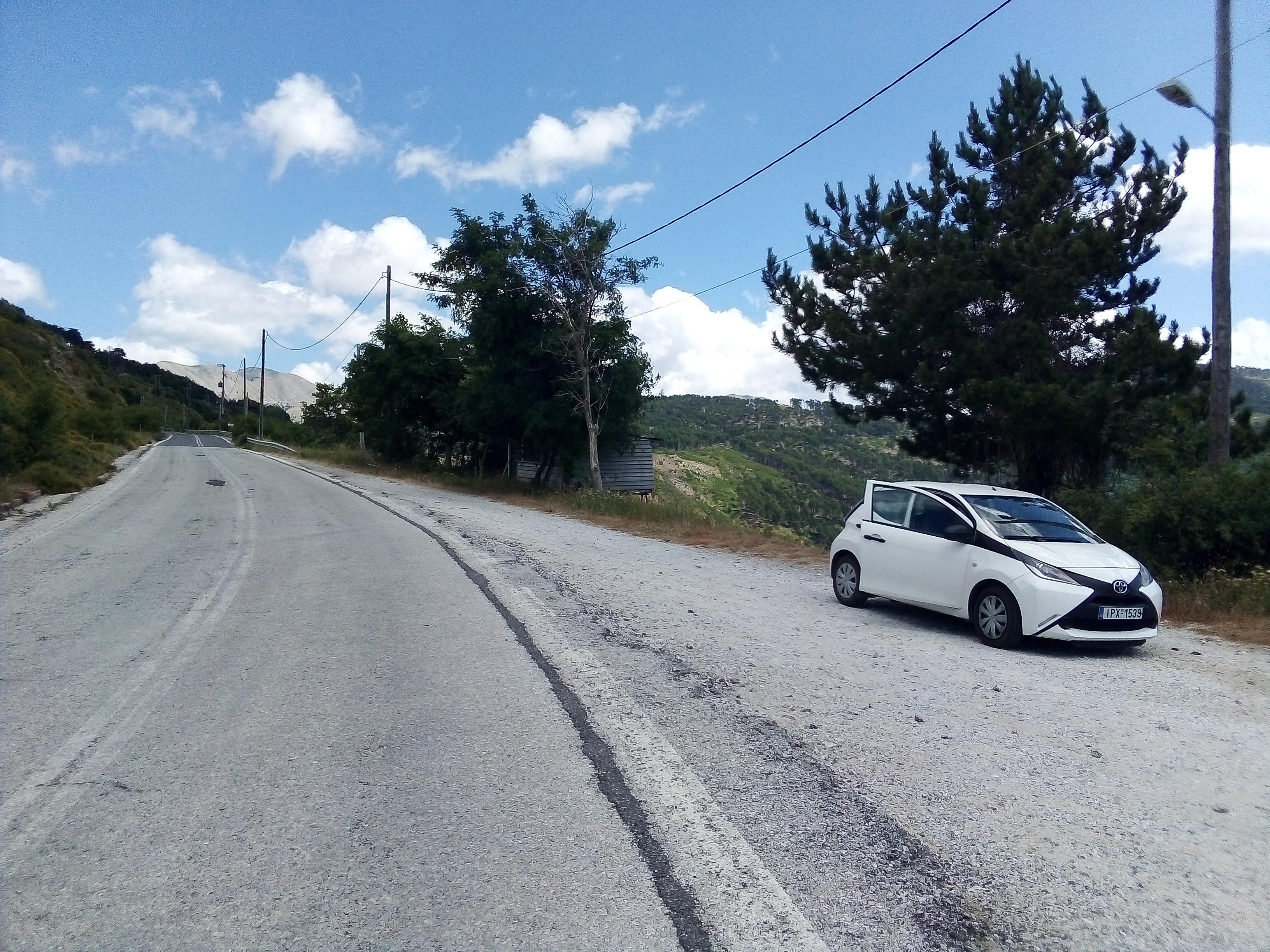планински път в Пелопонес