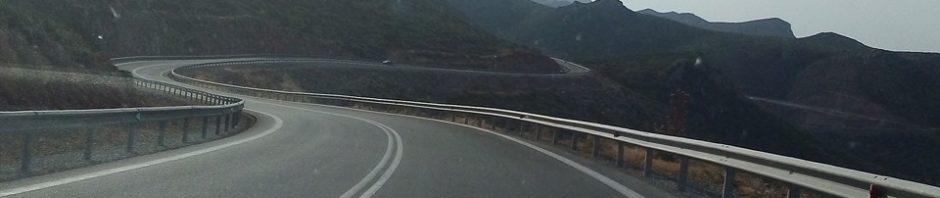 виещ се път в Пелопонес