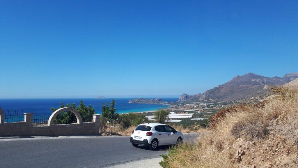 пътят към плаж Фаласарна