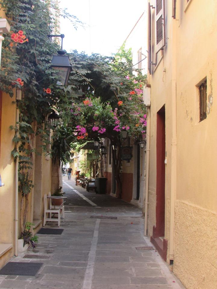улички на стария град на Ретимно