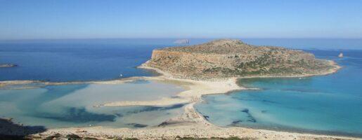 панорамна гледка към Лагуната на Крит