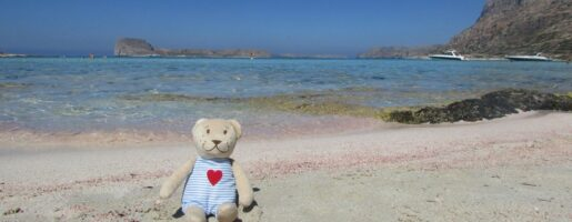 розовият плаж на Балос Крит