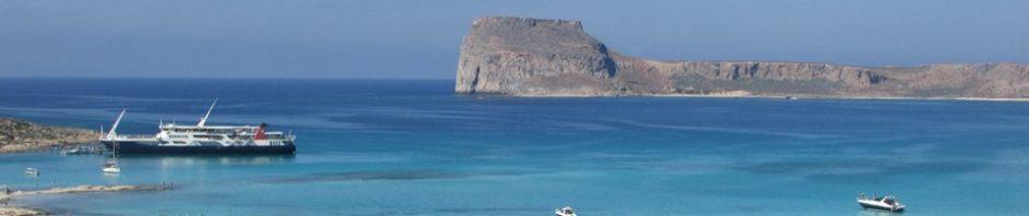 ферибот с туристи на Балос