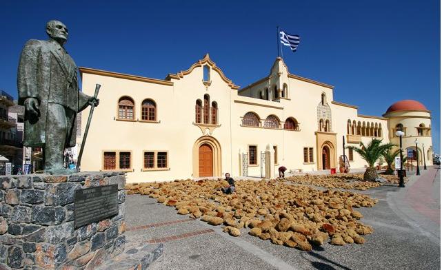 съхнене на морски гъби на остров Калимнос