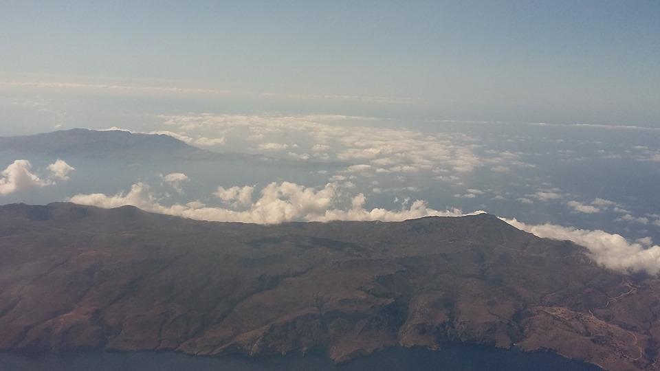 остров Крит от самолет