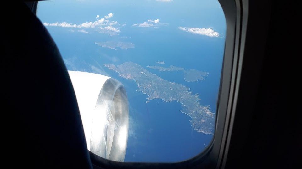 типична гледка от самолет в Гърция