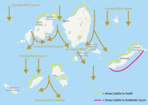 увеличена скорост на вятъра при фунии
