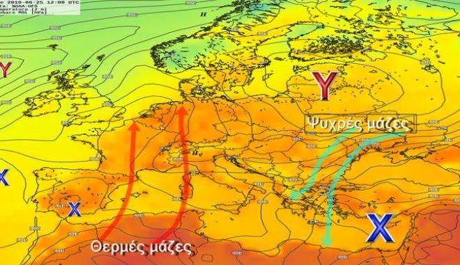 мелтеми в Европа и Азия