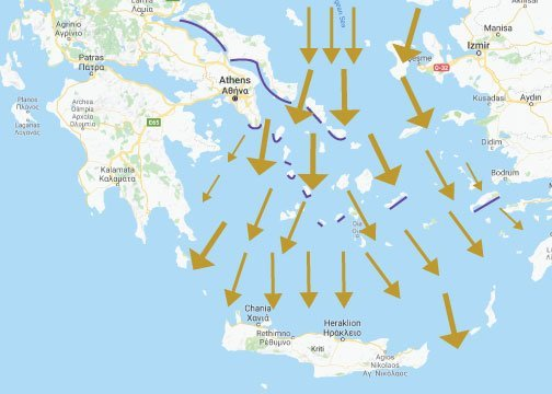 катабатни ветрвое в Гърция