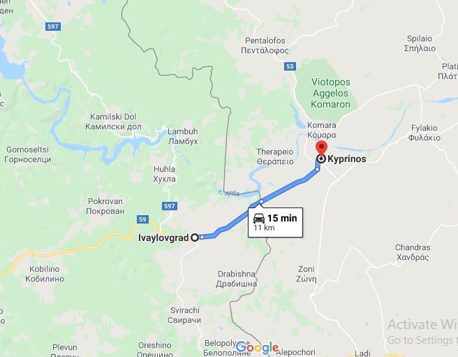 КПП Ивайловград - Кипринос