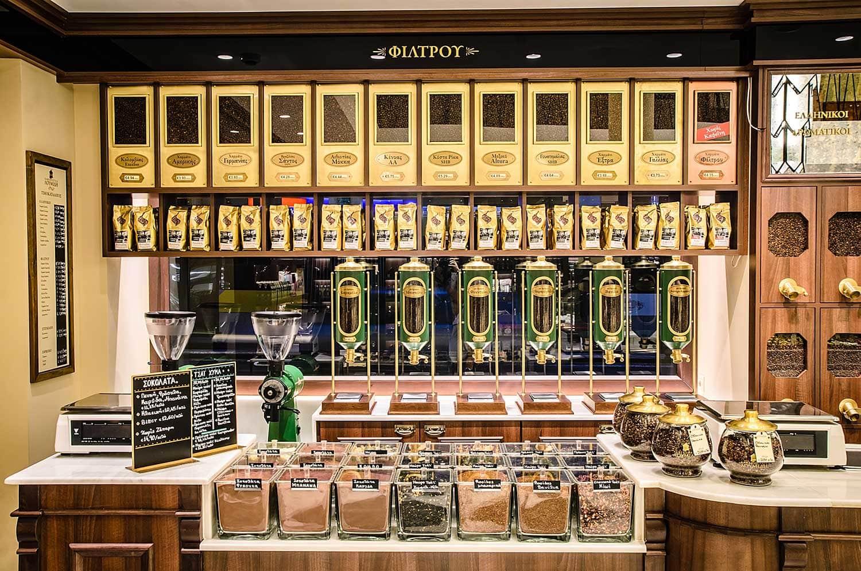 магазин за мелене на кафе в Гърция
