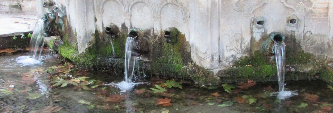 чешми с планинска вода в Макриница