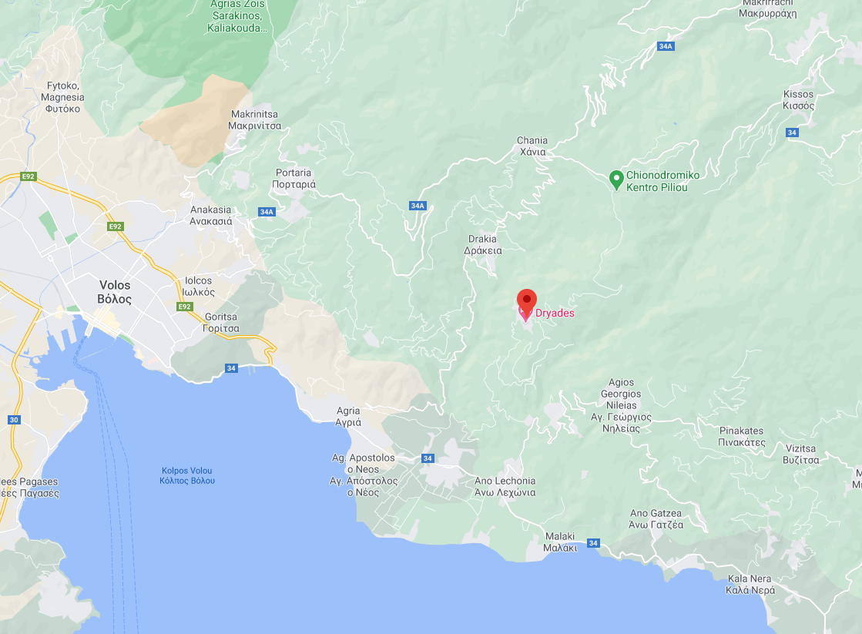 Карта на Агиос Лавренциос