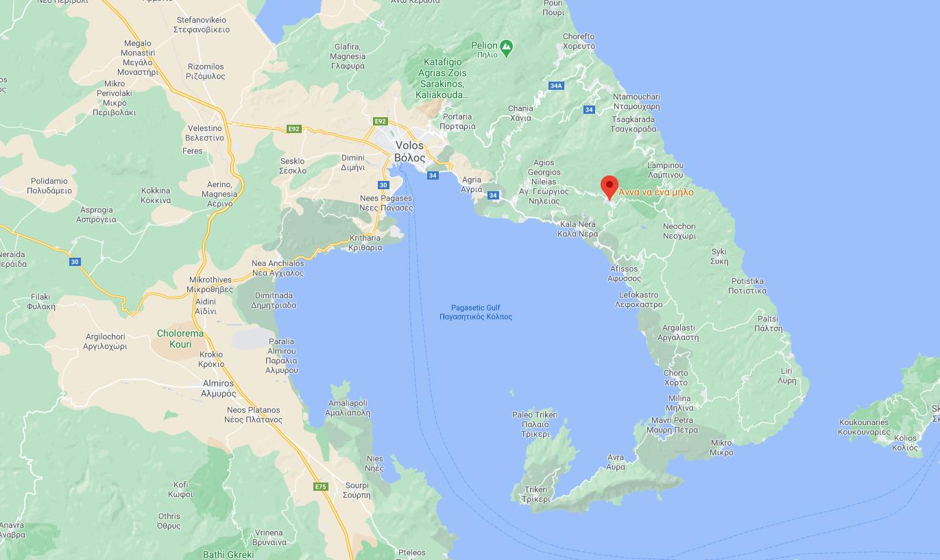 Карта на Милиев Магнесиа