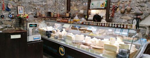 Гръцки продукти в магазин