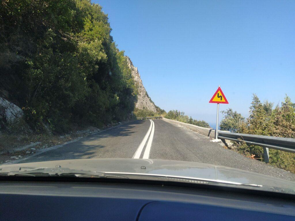 планински път на Пилио