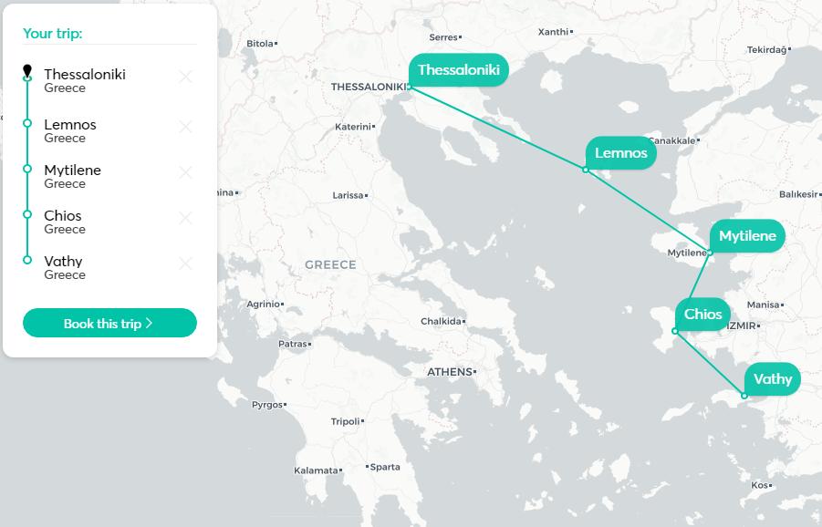 Ферибот от Солун до егейски острови